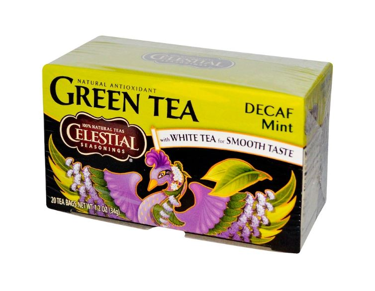 Celestial Seasonings® Green Tea with White Tea DECAF Mint