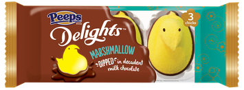 PEEPS® Delights™ Classic Yellow Marshmallow Dipped in Milk Chocolate