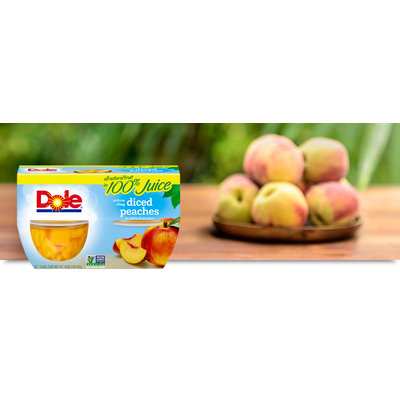 Dole Yellow Cling Diced Peaches In 100% Fruit Juice