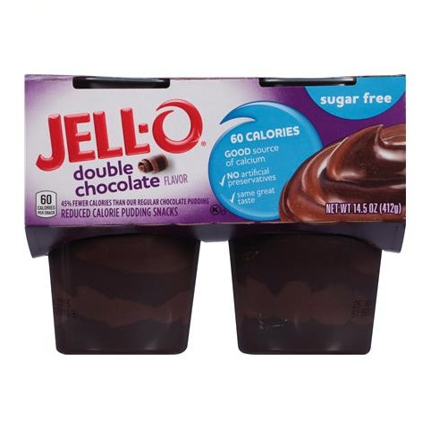 JELL-O Double Chocolate Reduced Calorie Pudding Snacks