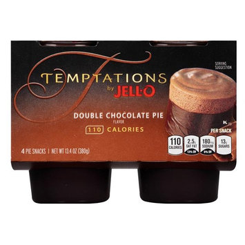 JELL-O Temptations Double Chocolate Pie Pie Snacks