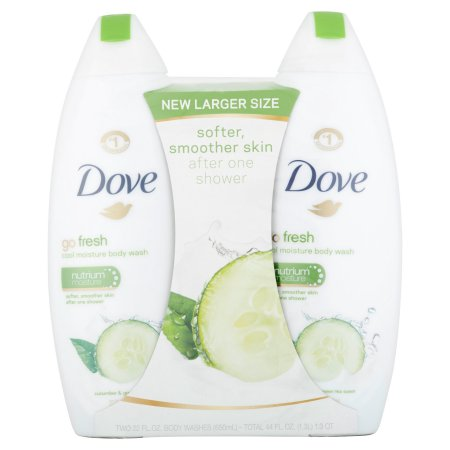 Dove Go Fresh Cool Moisture Body Wash 22 Oz Twin Pack
