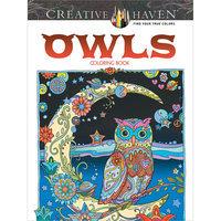 Dover Publications-Creative Haven Owls