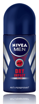 NIVEA for Men Dry Impact Roll-on Deodorant