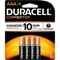Duracell CopperTop AAA Alkaline Batteries, 4pk
