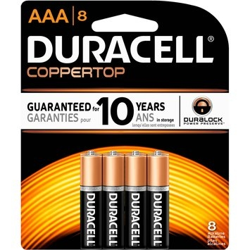 Duracell CopperTop AAA Alkaline Batteries, 4pk