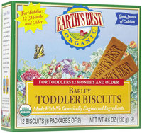 Earths Best Earth's Best Toddler Biscuits - Barley - 4.6 oz