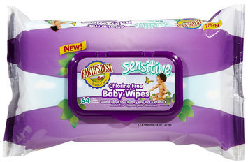 Earths Best Earth's Best Sensitive Baby Wipes Pack - 64ct