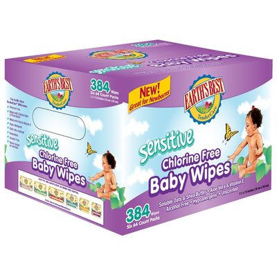 Earths Best Earth's Best Sensitive Baby Wipes Value Pack 384ct.