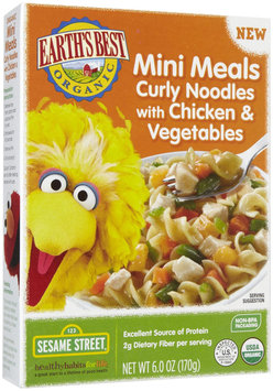 Hain Celestial Earth's Best Sesame Street Mini Meals Curly Noodles with Chicken and Veggies