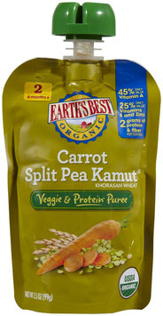 Hain Celestial Earth's Best Vegetable & Protein Puree Carrot Split Pea Kamut
