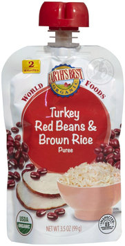 Hain Celestial Earth's Best World Foods Turkey Red Beans & Brown Rice - 3.5 oz
