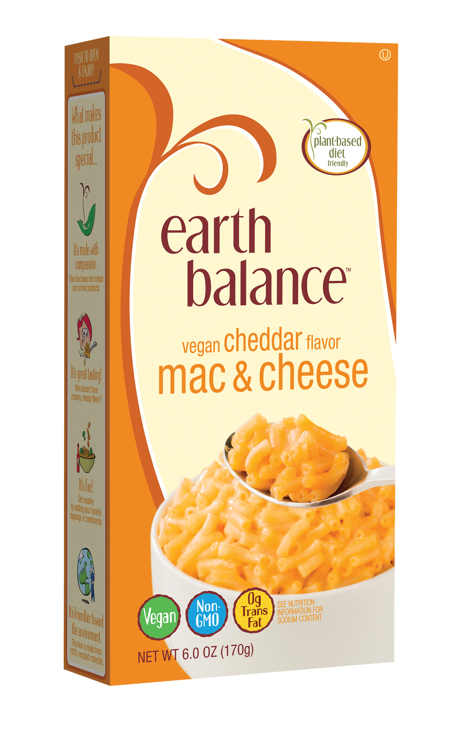 Earth Balance Vegan Cheddar Flavor Mac & Cheese
