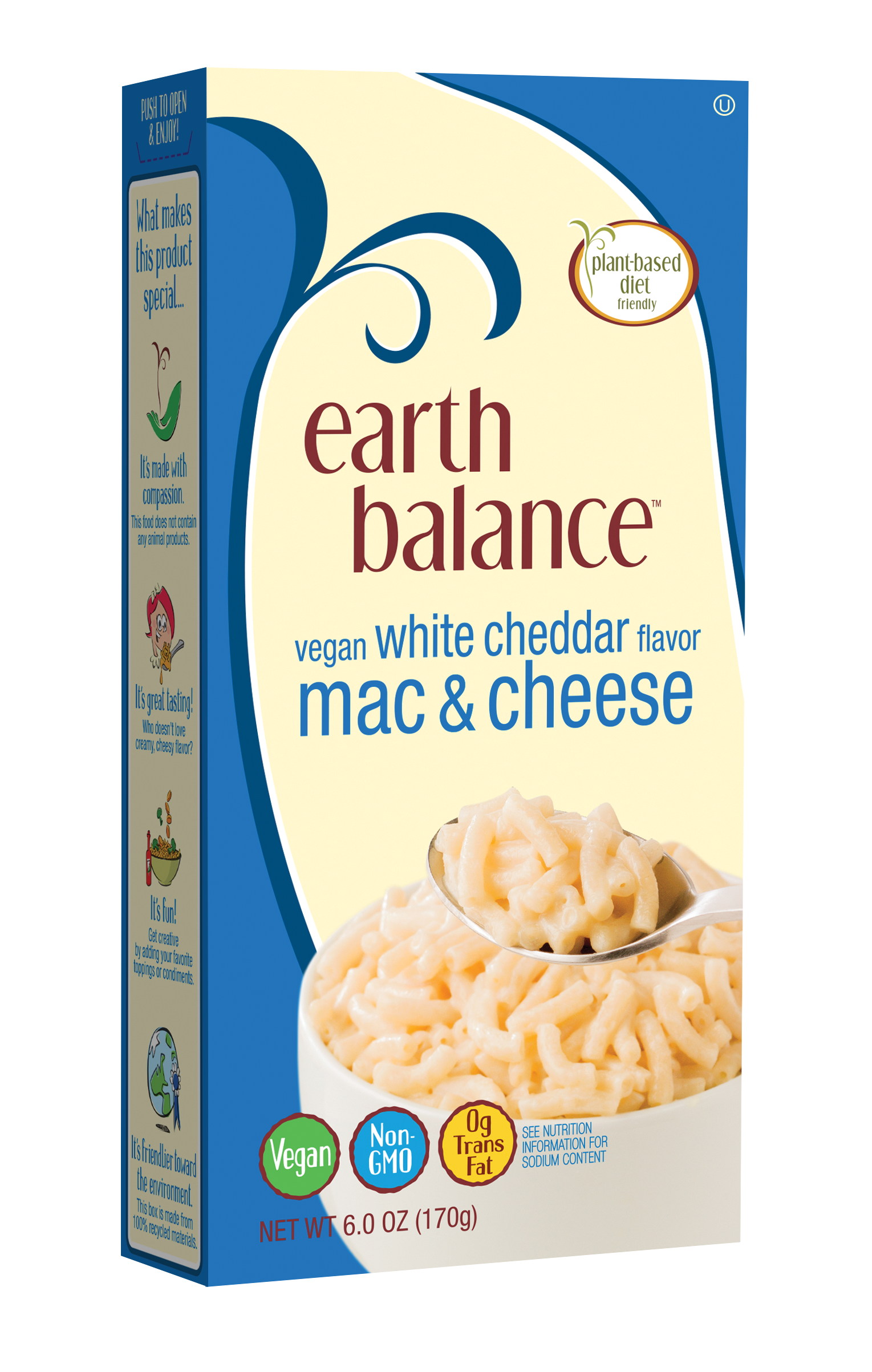 Earth Balance Vegan White Cheddar Flavor Mac & Cheese