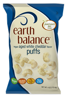 Earth Balance Vegan Puffs Aged White Cheddar Flavor