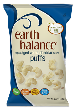 Earth Balance Vegan Puffs Aged White Cheddar Flavor
