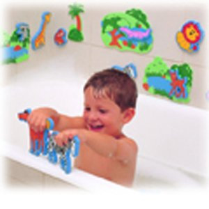 Edushape Magic Creations Bath Toys - Jungle Fun (17 Pc)
