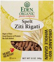 Eden Foods - Organic Pasta Spelt Ziti Rigati - 12 oz.