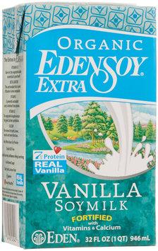 Eden Foods Edensoy Vanilla Extra Organic Soymilk, 32 oz, - Pack of 12