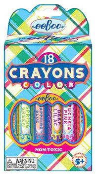 eeBoo Blue Plaid Crayons