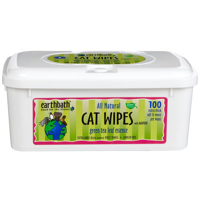 Earthbath green tea Cat Wipes - 100 ct