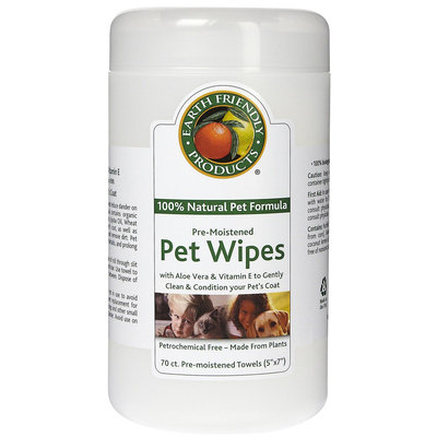 Venus Laboratories Earth Friendly Products Pre-Moistened Pet Wipes