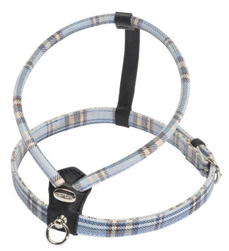 Petego Cheri Tartan Dog Harness Small Blue