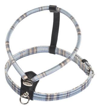 Petego Cheri Tartan Dog Harness Small Blue