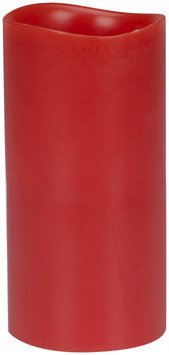 Energizer Flameless Ginger Apple Fruit Scented Smooth Pillar, Red