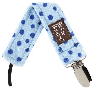 Z. Daisy Earth Blue Binkie Bungee Pacifier Clip