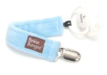 Z. Daisy Blue Binkie Bungee Pacifier Clip