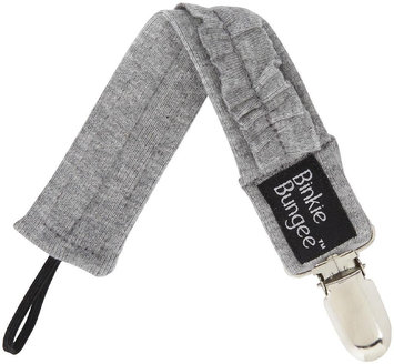 Z. Daisy Eco Binkie Bungee Pacifier Clip - Gray Vera Ruffle