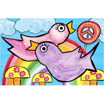 Emily Green Imagination Mat - Peace, Love and Rainbows - 1 ct.