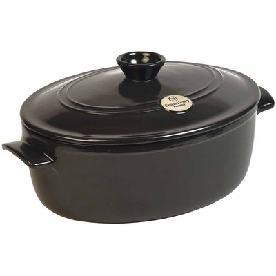 Emile Henry Oval Covered Stewpot-PEPPER-6