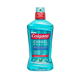 Colgate® ENAMEL HEALTH™ ALCOHOL-FREE SPARKLING MOUTHWASH FRESH MINT