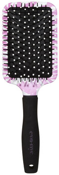 Eva NYC Groovy Grooming Pink Zebra Paddle Hair Brush