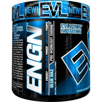 EVLution Nutrition ENGN Pre-Workout Supplement Blue Raz