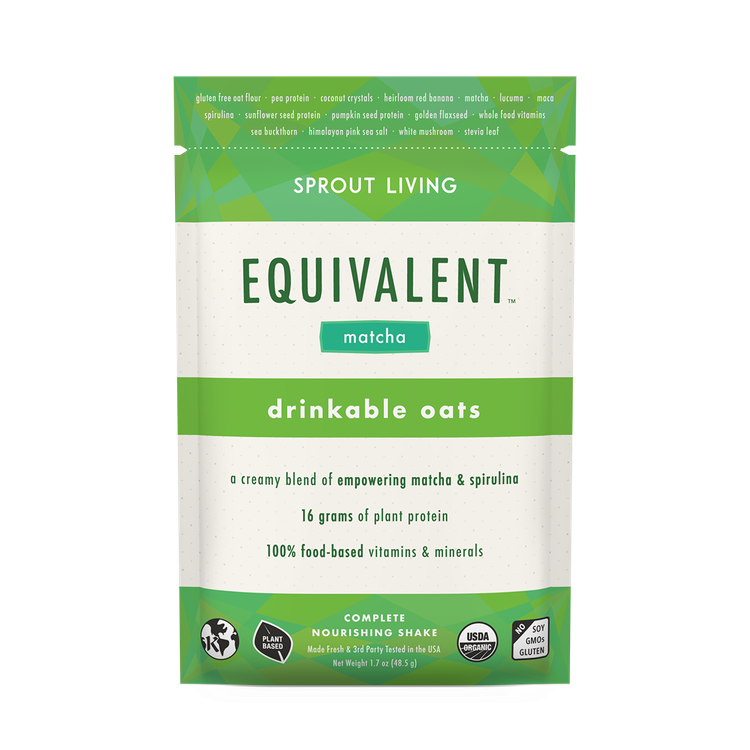 SPROUT LIVING EQUIVALENT™ Matcha Drinkable Oatmeal