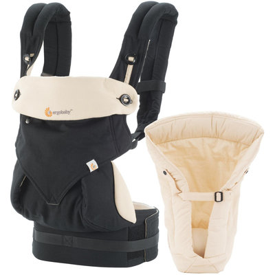 Ergo Baby Ergobaby 360 Bundle of Joy Carrier & Insert - Black/Camel - 1 ct.