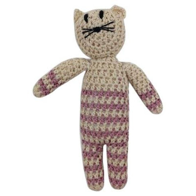 Estella Kitty Hand-Knit Rattle (Pink) - 1 ct.
