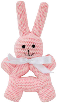 Estella Bunny Rattle With Handle - Pink - 1 ct.
