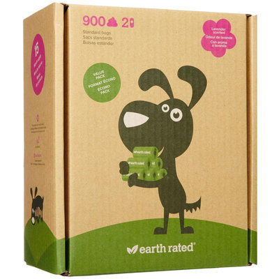 Earth Rated Lavender Scented Poop Bags 900 Bags.