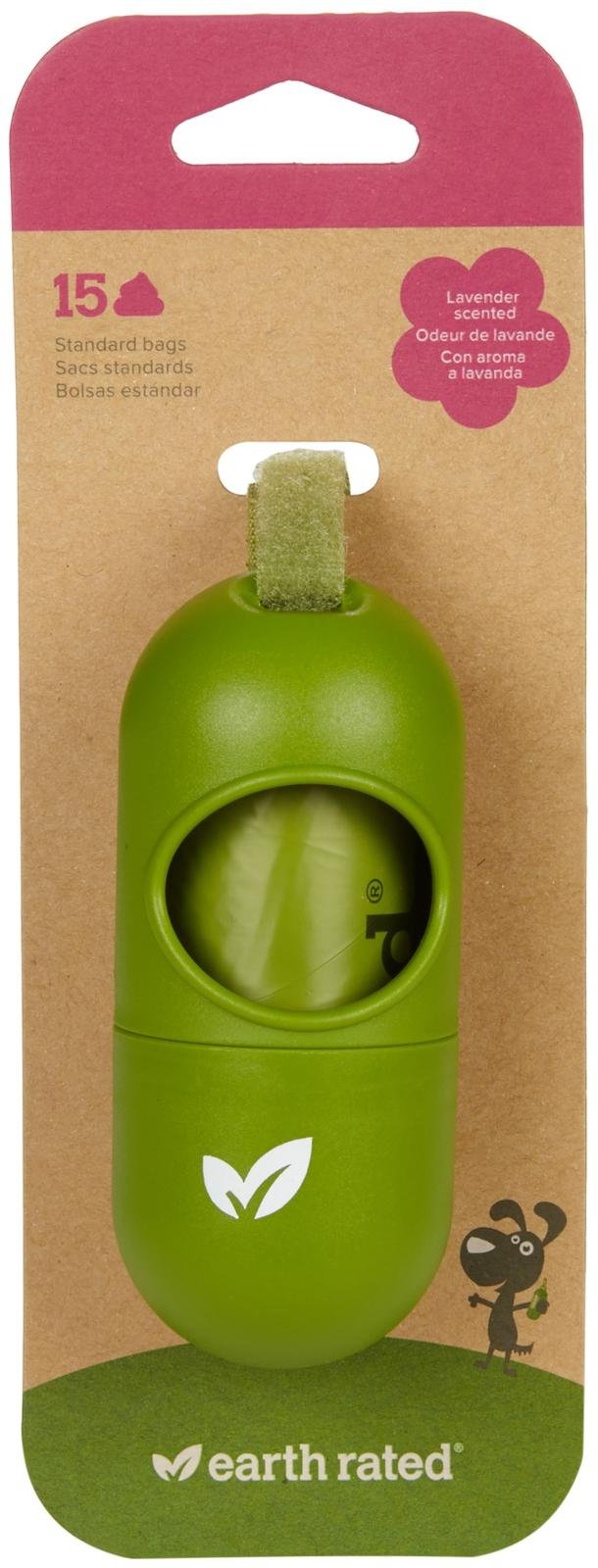 Earth Rated Poop Bag Green Dispenser (2-pack)