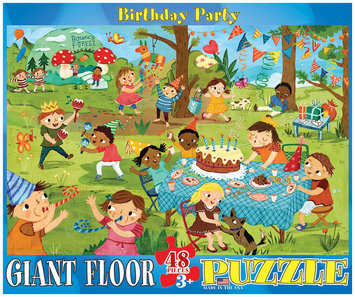 Euro Graphics 8048-0468 Spot & Find Birthday Party 48-Piece Floor Puzzle