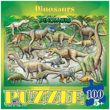 Euro Graphics 6100-0098 Dinosaurs 100-Piece Puzzle