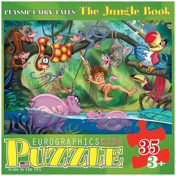 Euro Graphics 6035-0424 Classic Fairy Tales - The Jungle Book 35-Piece Puzzle