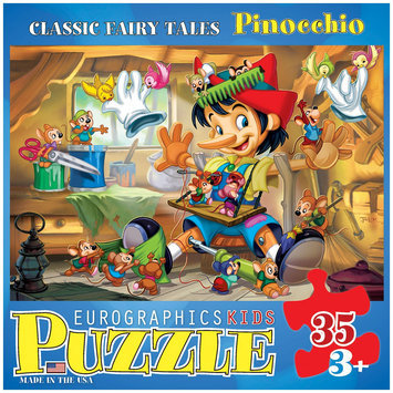 Euro Graphics 6035-0421 Classic Fairy Tales - Pinocchio 35-Piece Puzzle