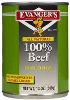 Evangers All Meat Natural - 100% Beef - 12 x 13 oz