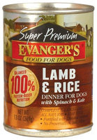 Evangers Gold Label - Lamb & Rice - 12 x 13.2 oz
