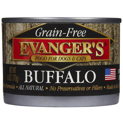 Evangers Evanger's Game Meat Can Dog & Cat Buffalo 6 oz Case 24